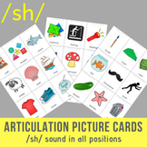 /sh/ Sound Articulation Picture Cards - SH Sound In All Positions