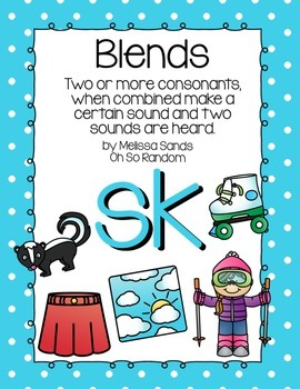 Sc And Sk Blends Worksheets & Teaching Resources | TpT