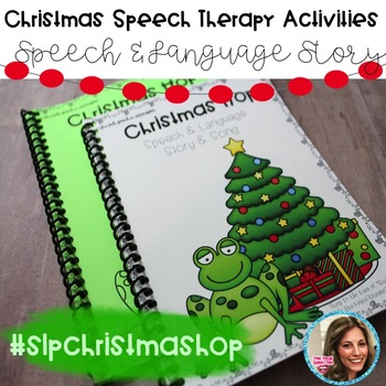 #slpchristmashop | Christmas Speech Therapy Activities