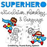 Superhero Articulation, Phonology, & Language Worksheets