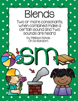 -sm Blend Anchor Chart & Practice {Click File, Print}