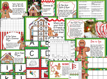 Gingerbread Fun : ELA and Math Stations