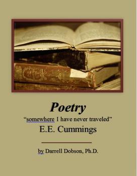 """somewhere i have never traveled"" E.E. Cummings  Poetry"