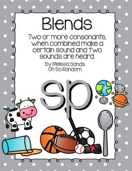 -sp Blend Anchor Chart & Practice {Click File, Print}