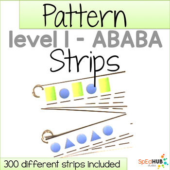 Pattern Strips - Level 1 ABABA pattern