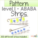 Pattern Strips - Level 1 ABABA pattern