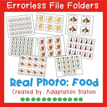Errorless File Folders: Food with Real Pictures