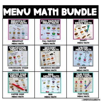 Menu Math Bundle