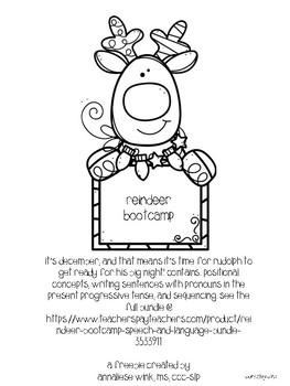 #spedstockingstuffer Reindeer Bootcamp Mini Language Bundle