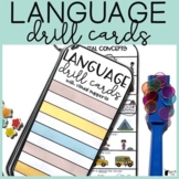 Language Drill Cards with Visuals   Language Speech Therapy