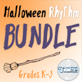 Halloween Rhythm BUNDLE for grades K-3