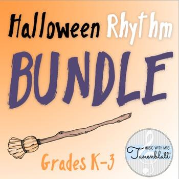 Halloween Rhythm BUNDLE for grades K-3