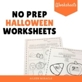 Halloween Music No Prep Worksheets