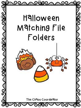 Halloween Matching File Folders