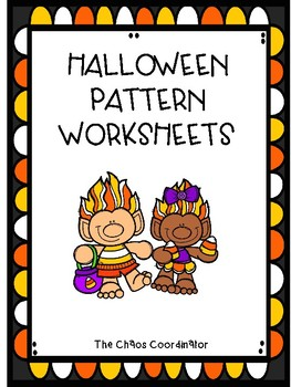 Halloween Pattern Worksheet for special education