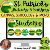 St. Patrick's Day Canvas and Schoology Buttons and Banners Bundle