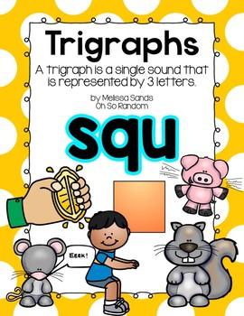 -squ Trigraph Anchor Chart & Practice {Click File, Print}