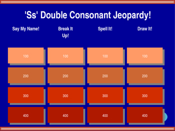 ss Double Final Consonant Jeopardy!
