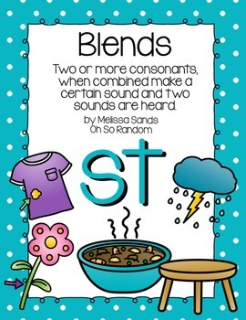 -st Blend Anchor Chart & Practice {Click File, Print}