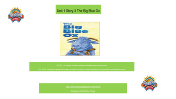 1st grade Unit 1 story 3 Big Blue Ox