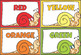 Learning Colors -Color Posters Clip Cards  Puzzles Games BUNDLE +British