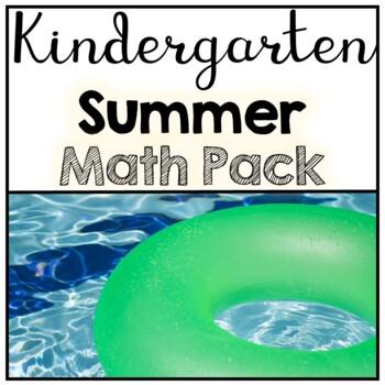 Kindergarten No Prep Summer Math Review