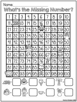 Free Sample of Kindergarten No Prep Summer Math Review