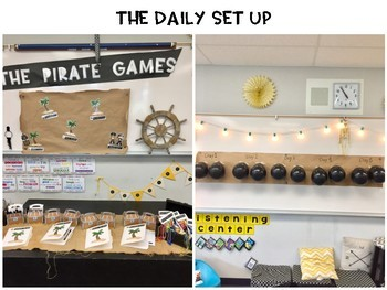 The Pirate Games - Graphing, Money & Multiplication Practice