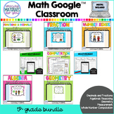 DISTANCE LEARNING Fifth Grade Google™ Classroom MATH BUNDLE