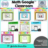 Fifth Grade Google™ Classroom MATH BUNDLE