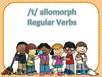 /t/ Allomorph Regular Past Tense Verb Cards