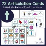 /t/ Articulation Flashcards - Initial, Medial and Final