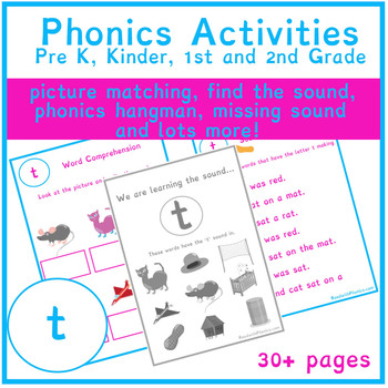 T Sound Phonics Bundle Phonics Resources Phonics Worksheets
