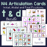 /t/ and /d/ Articulation Flashcards - Initial, Medial and Final - BUNDLE