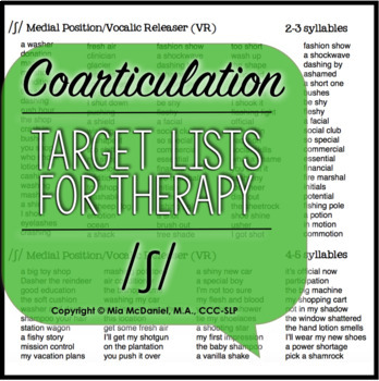 /ʃ/, /tʃ/, & /dʒ/ Sound Targets for Articulation Therapy {coarticulation}