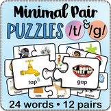 /t/ & /g/ MINIMAL PAIRS Jigsaw Puzzles - Speech Therapy Ac