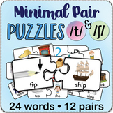 /t/ & 'sh' Minimal Pairs Jigsaw Puzzles - Speech Therapy Activity / Game