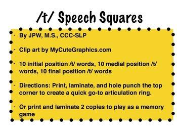 /t/ speech squares
