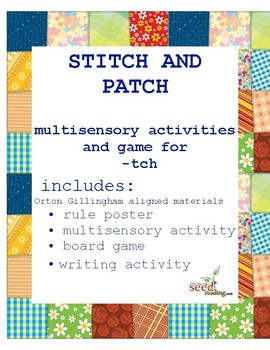 Orton Gillingham games  -tch Spelling Rule  Patch Game