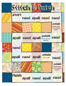 Orton Gillingham games  -tch Spelling Rule  Stitch and Patch Game tch ch