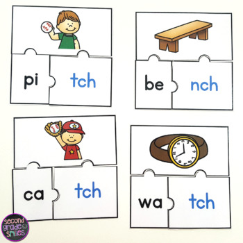 -tch and -nch Endings Word Work