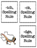 -tch, -dge, -ck Spelling Rule Activities Bundle