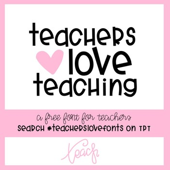 #teacherslovefonts FREE FONT