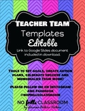 #teacherteamfreebie Teacher Team Templates Editable