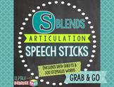 /s/ Blends Articulation Speech Sticks