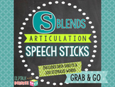 /s/ Blends Articulation Speech Sticks