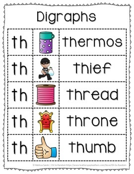 -th Digraph Anchor Chart & Practice {Click File, Print}