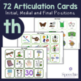 /th/ Voiced and Voiceless Articulation Flashcards - Initia