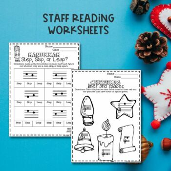 No Prep Christmas Music Worksheets