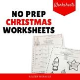 No Prep Christmas Music Worksheets